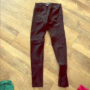 Black stitched leggings